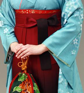 青系の着物
