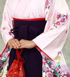 ピンク系の着物